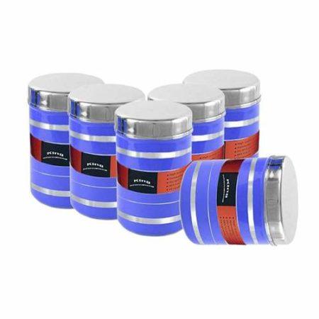 Stainless steel enamel Multipurpose Storage Box set of 5