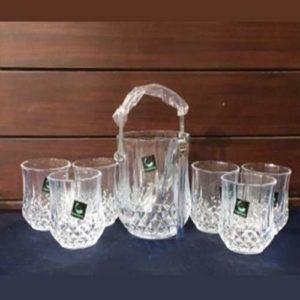 Ice Bucket And Glass Set