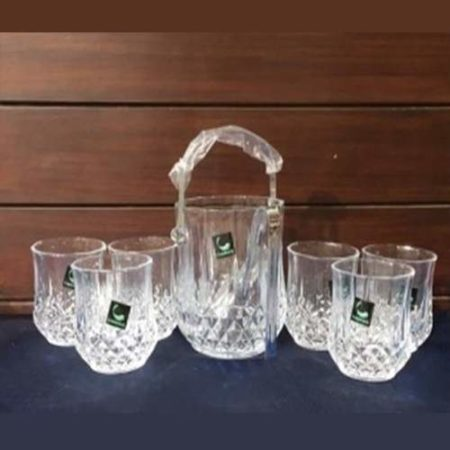 Ice Bucket And Glass Set