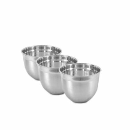 Stainless Steel German Bowls , Set Of 3 Pieces , 26 cm