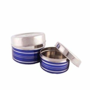 Stainless Steel Food Storage Containers, Set Of 2 Pieces