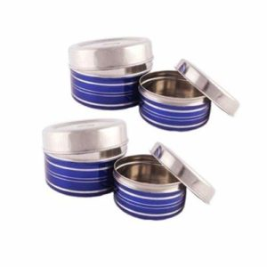 Stainless Steel Food Storage Containers, Set Of 3 Pieces