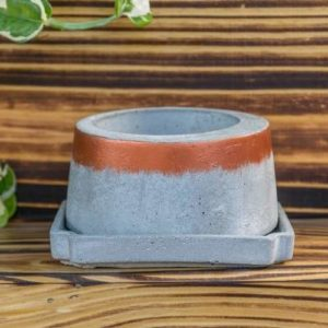 Grey Round Shape Planter