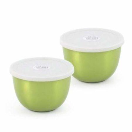 Microwave safe Steel Serving food Steel Bowl,Set Of 2