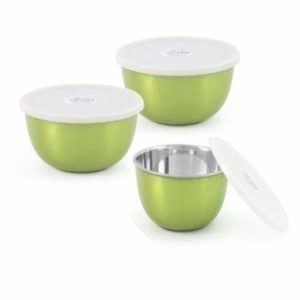 Microwave safe Steel Serving food Steel Bowl,Set Of 3