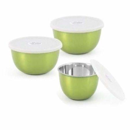 Microwave safe Steel Serving food Steel Bowl,Set Of 3