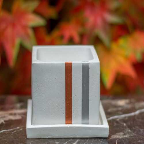 Square Shape White Colour Planter