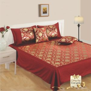 Swayam 24 KT Gold Bed sheet Set