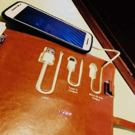 ANGEL Tech Diary With 4000 mah Power Bank