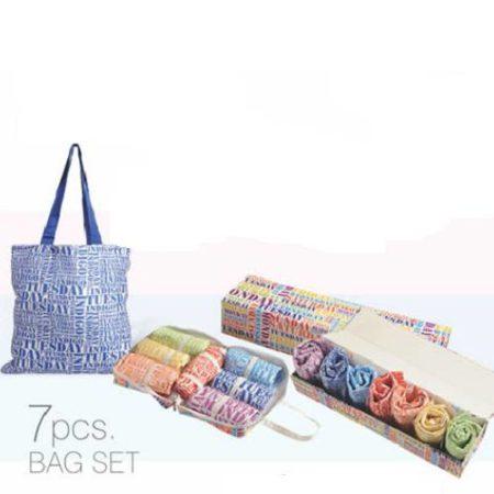 Swayam Vibgyor Seven Days Shopping Bags - 7 Pcs
