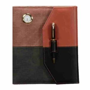 Folder Diary with Pen, Watch, Calculator & Bookmark