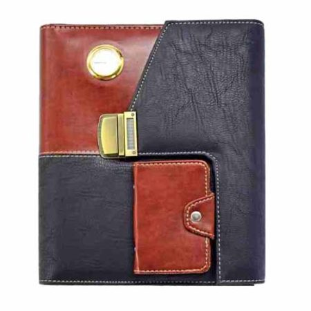 Folder Diary with Lock, Card Holder, Watch, Calculator & Bookmark