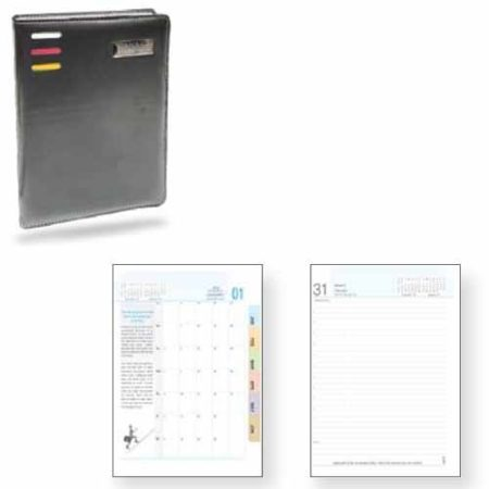 Angel Multi Colour 3 Stripe Look Leatherite PU Cover Diary