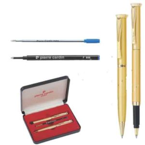 Pierre Cardin No Blesse Satin Gold Finish Set of Roller Pen & Ball Pen