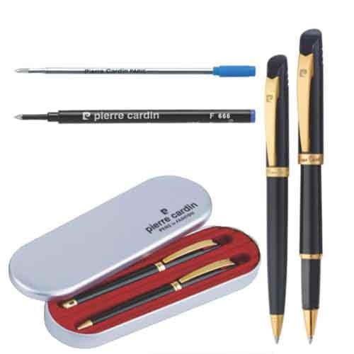 Pierre Cardin Black Beauty Set of Roller Pen & Ball Pen