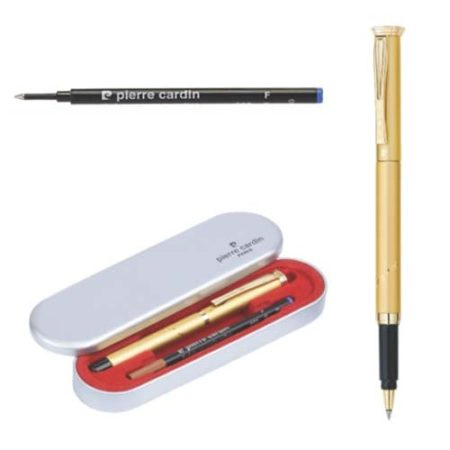 Pierre Cardin No Blesse Satin Gold Finish Roller Pen