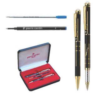 Pierre Cardin Pearl Black & Gold Exclusive Set of Roller Pen & Ball Pen