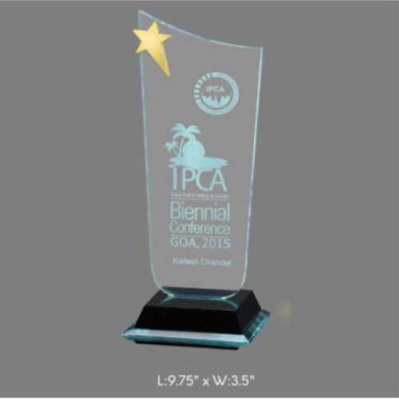 "Angel Acrylic Trophy / Memento - L 9.75"" x W 3.5"""