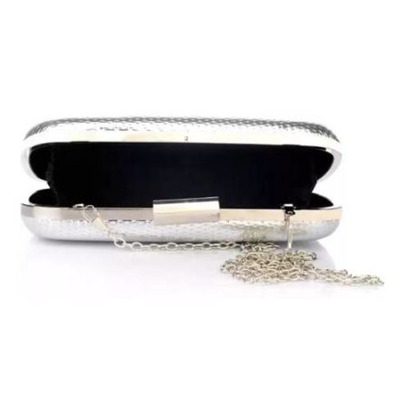Satya Paul Silver Party Clutch