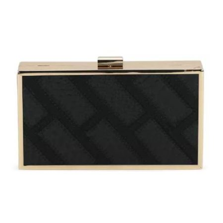 Satya Paul Black Clutch