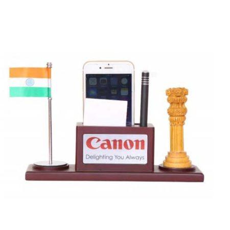 Desktop Organizer Office Table Top Indian Flag