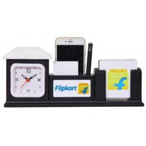 Desktop Organizer/ Office Table Top With Watch, Mobile Stand & Memo Pad