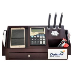 Desk Organizer / Table Top- Pen Stand With Watch & Calculator 01