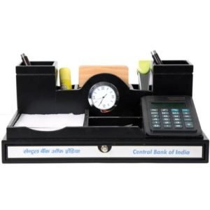 Desk Organizer / Table Top - Pen Stand With Watch & Calculator 06