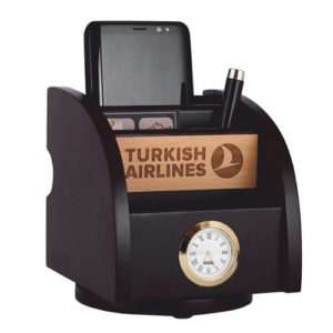 Desk Organizer / Table Top - Pen Stand With Watch 08