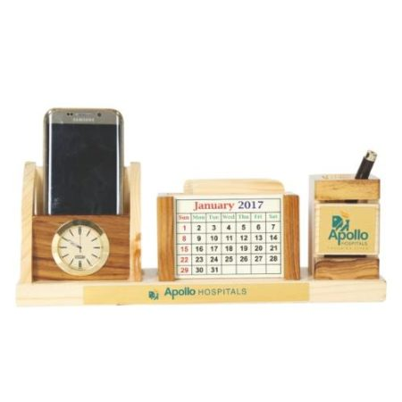 Desk Organizer / Table Top - Pen Stand With Coaster Plates 10