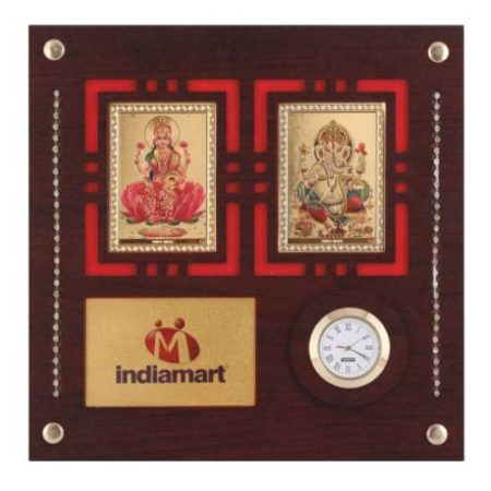 Laxmi Ganesh God Frames / Wall Hanging with Watch 3007