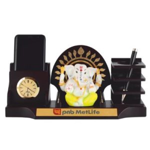 Desk Organizer / Table Top - God Idol with Pen Stand & Mobile Stand