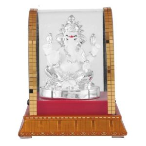 God Shree Ganesh Idol in Glass