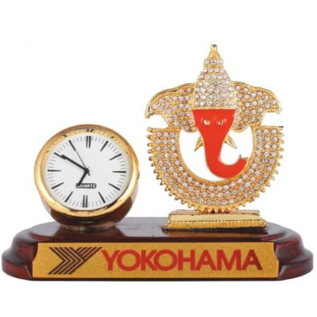 God Ganesh Idol with Watch