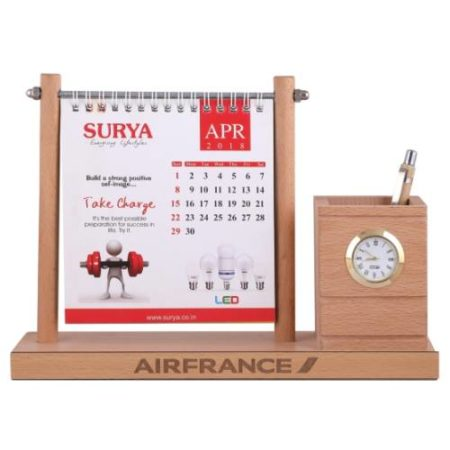 Desk Organizer / Table Top - Pen Stand With Calendar 01