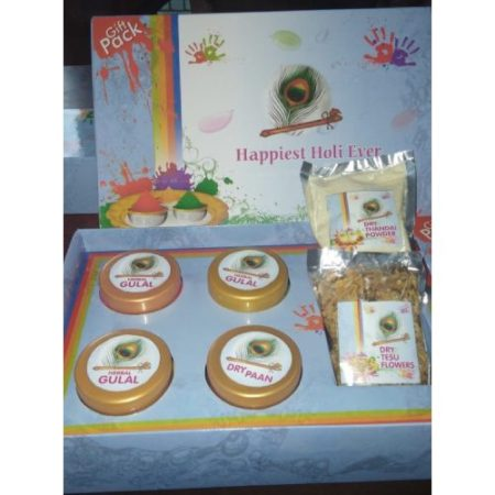Holi Hamper Herbal Colours & Tesu Flower
