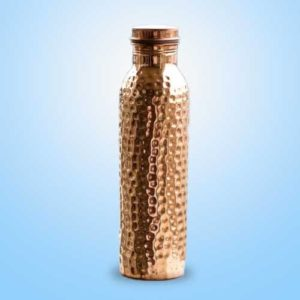 Single Hammered Copper Bottle