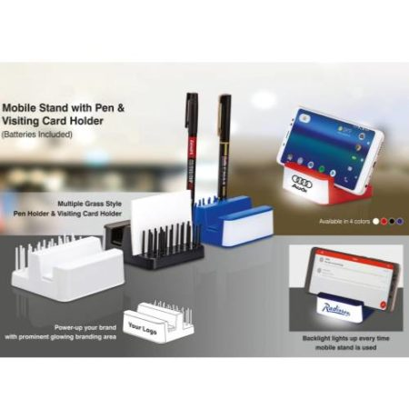 Mobile Stand With Pen & Visiting Card Holder