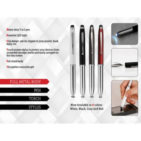 Meta Pen with Stylus & Torch - L66