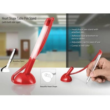 Heart Shape Table Pen Stand - L 81
