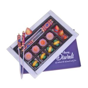 Diwali Cracker Shaped Chocolate Gift Box
