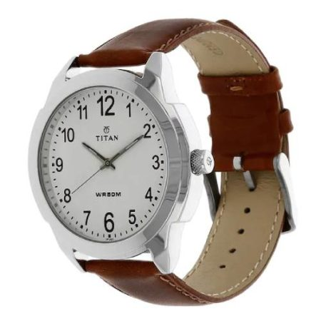 Titan White Dial Watch 1585SL07C