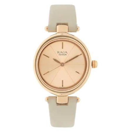 Titan Raga Viva Rose Gold Dial Watch 2579WL01