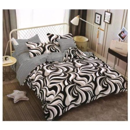 signature Simma B and W bedsheet