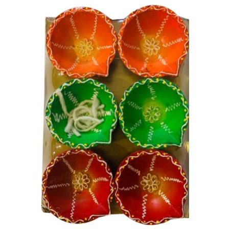 Big Decorative Diya Set of 6