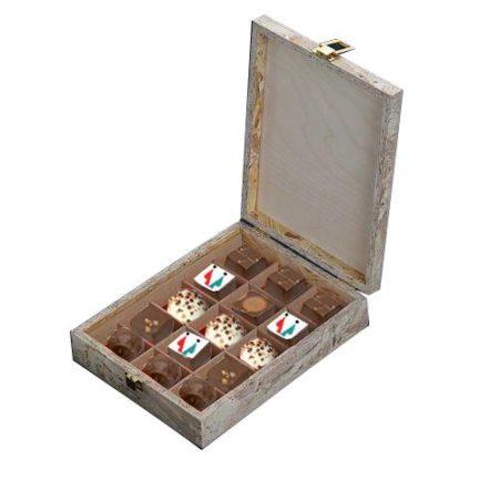 Classy Logo Print Chocolate Gift Box