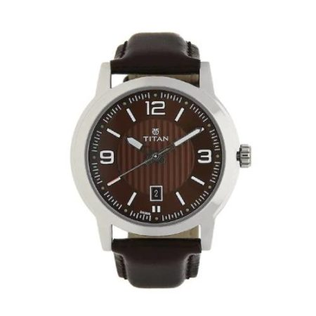 Titan Brown Dial Strap Watch