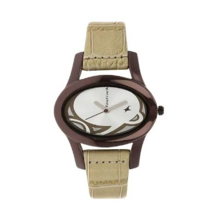 Fastrack Leather Strap Watch NK9732QL01