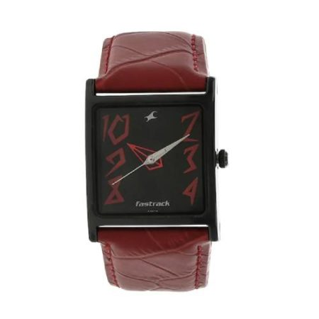 Fastrack Leather Strap Watch NK9735NL01