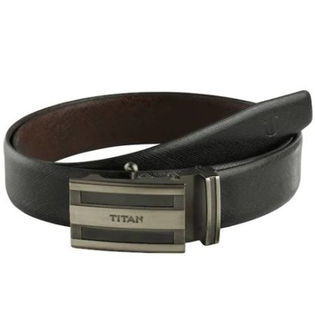Titan Black & Brown Leather Belt TB178LM1R2L